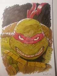 Raphael the Turtle by graphicus-art
