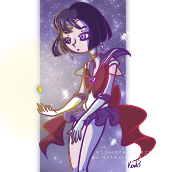 Saturn Holding a Star Seed by PlantAsteroid