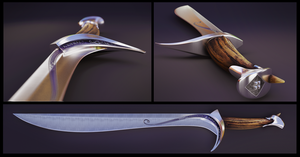 Orcrist - The Goblin Cleaver PBR by Nikola3D