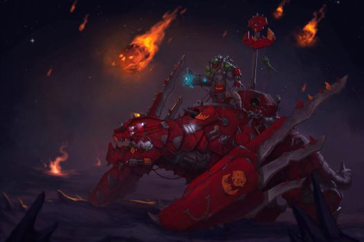 Ork's Mech dragon by MyDeads