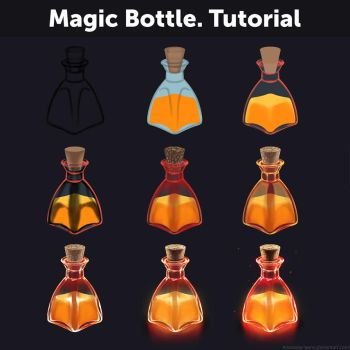 Magic Bottle. Tutorial by Anastasia-berry