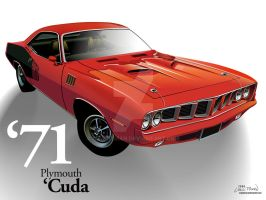 1971 Plymouth 'Cuda - Red by CRWPitman