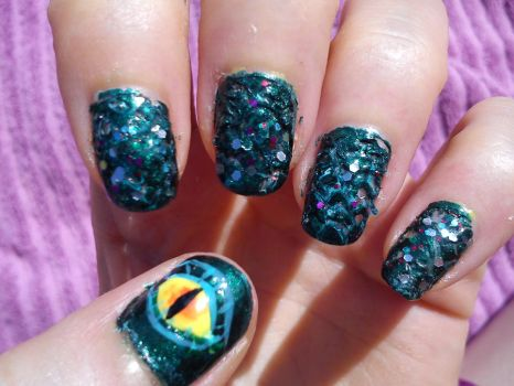 Dragon Nail Art by EnelyaSaralonde - Nail Art By EnelyaSaralonde On DeviantArt