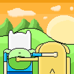 Finn and Jake The End (pixel art) by SuperHyperSonic2000