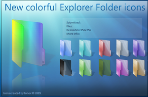 Colorful folders by tonev