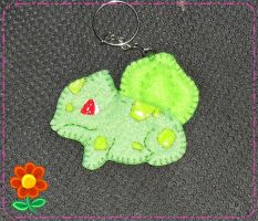 Bulbasaur Felt Keychain by CamiHetfield