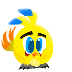 Dexter in Angry birds movie hatching version by TheAmazingBella22