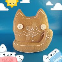 Gingerbread Cat Cat Food Plush by Elfedward