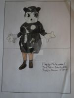 InkTober Drawing #30 creepy 1930's minnie mouse by Justyn16