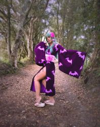 Morrigan Yukata cosplay - I want to steal you away by JudyHelsing
