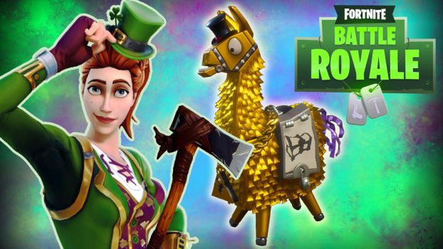 Fortnite BR Gold Lama by LordMaru4U