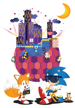 Sonic The Screensaver-Welcome to Studiopolis by SonicTheBlueStar