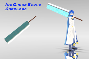 MMD Ice Cream Sword Dl by supersonicwind69