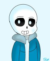 Sans the skeleton (Undertale) by PuffedStar