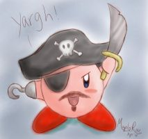 Kirby says 'yargh' by MapleRose