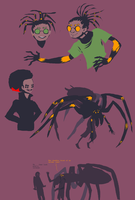 oldish spider people concepts by Spoonfayse