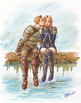 DAO request: Avalynn Cousland and Alistair by PiraWTH