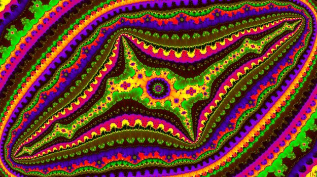 Pregnant Mandala-worm in the Jungle by FractalMonster