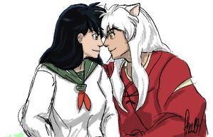 Eskimo Kiss - Inuyasha by darkhavenprincess