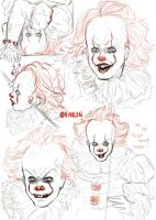 Pennywise study by Vivalski