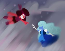 Ruby and Sapphire by TheCinnaBunz