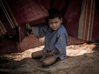 Curtains And A Kid by InayatShah