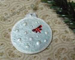 Dragon Fly in Snow - Holiday Ornament by Kyle-Lefort