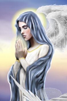 Angel of Prayer by Tricia-Danby