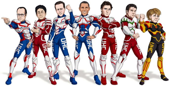G7 Manga World Leaders by Bomu