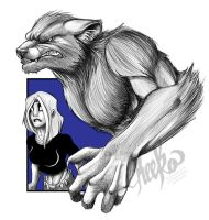 Kat and Wolf by MegSyv