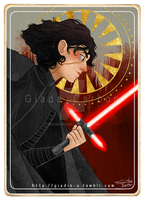 Kylo Ren - Star Wars Tarot Card by giadina96