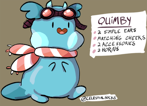 Quimby the Sluggle (ref, kinda) by celestialsocks