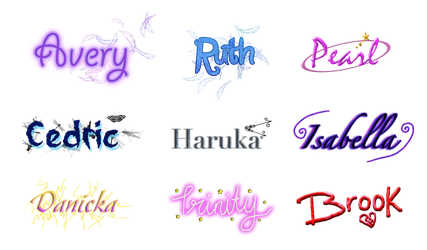 Requested Name Icons by PurpleAmharicCoffee