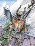 Link vs Bellumbeck by yurionna
