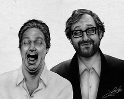 Portrait of Tim and Eric (2012) by dwightyoakamfan