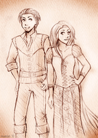 Tangled Protags for Alex by mumpo