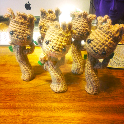 Guardians of the Galaxy Dancing Groot Amigurumi by Spudsstitches