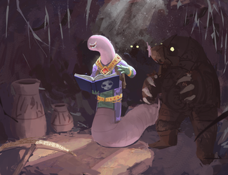 Obsessed Bookworm by SergIole