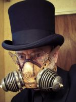 Man in Tophat and Respirator by TomBanwell