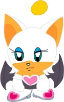 Rouge the bat Chao by Vickicutebunny