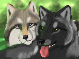 Green Forest lovers - GIFT by Gretelus