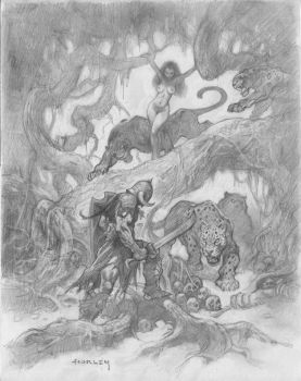 Death Dealer and Cat Girl by AlexHorley