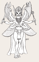 ''Daily Sketch'' - Death Goddess by 0laffson