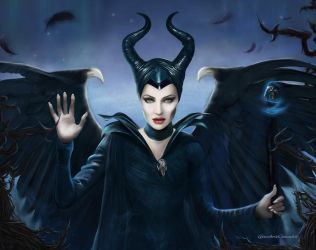 The wings of Maleficent by GinebraCamelot