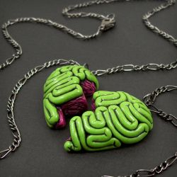 Brainy BFF Necklace green by True-Crimeberry