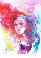 DELIRIUM WATERCOLOR by JAVIER G. PACHECO by javierGpacheco