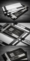 Black clean Business Card by calwincalwin