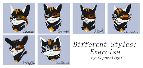 Different Styles: Exercise by Copperlight