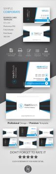 Simple Corporate Business Card by Hasyemi12