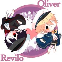 Oliver and Revilo by Miza3